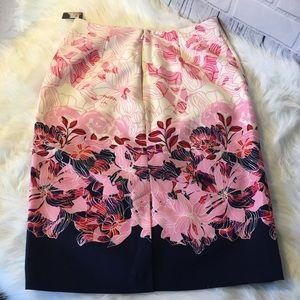 Halogen Skirts - Halogen Sz 6 Floral Pencil Skirt